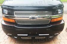 Front Grille Black & Chrome Bowtie Emblem Fits Chevy Express Van 1500 2500 3500
