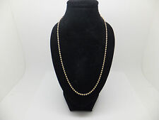 "18ct yellow gold 16 inch ball chain with ""750"" stamp"