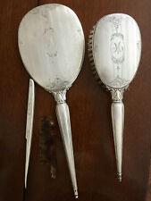 Vintage BIRKS 925 STERLING Silver VANITY DRESSER SET Mirror Brush Comb