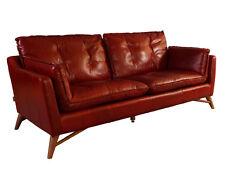 Bantry Sofa 3 Sitzer Design Ledersofa Royal Rouge Vintage Leder Möbel Couch 3er