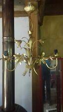 lustres 3 branches en laiton doré année 60 style jansen