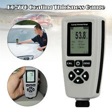 White Portable Digital Coating Thickness Gauge Meter Tester LCD Display USB