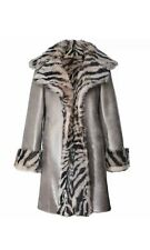 Dom Goor Reversible Zebra Print Sheepskin Coat