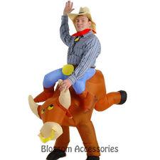 C779 The Illusion Bull Rider Cowboy Mens Fancy Dress Halloween Adult Costume