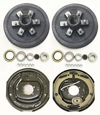 """Trailer 6 on 5.5"""" Hub Drum Kits w/ 12""""x2"""" Electric Brakes for 5200-6000 lbs axle"""