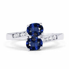 Cocktail Sapphire Oval Fine Gemstone Rings