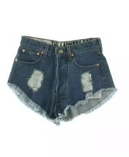 THE LAUNDRY ROOM New Women's Frayed Blue Denim Sexy Shorts Sz XXS XS 25 SOLD OUT