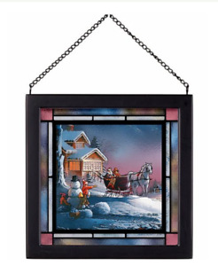 Winter Wonderland Stained Glass Art by Terry Redlin for Wild Wings