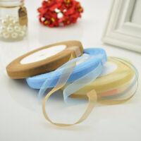 12 Color 50 Yards 10/20mm 45M Satin Edge Sheer Organza Ribbon Bow Craft