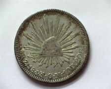MEXICO 1843-ZSOM SILVER 8 REALES NEARLY UNCIRCULATED