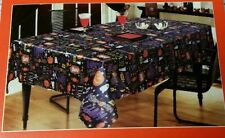 NWT Adorable Fun Halloween Themed Holiday Rectangle Satin Table Cloth 58 x 84