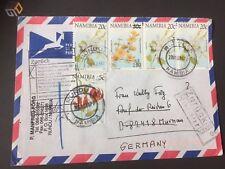 Seltener Retoure Brief Namibia Rundu nach Germany Murnau 07.03.2001 Überdruck 30