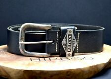 Petrol Vintage Mens Leather Jeans Belt Black Size 36