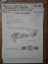 "Decals Carpena 72.32 1/72 Escadrille ""La Fayette"" 2° partie"