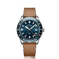 Rotary Henley GMT reloj de pulsera de GS05108-05 los hombres