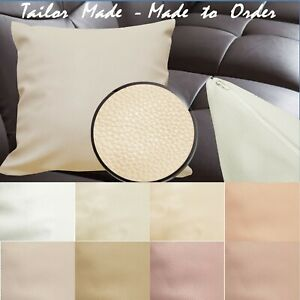 Tailor Made(Cover Only) Faux Leather Sofa Patio Bench Cushion Pillow Case Pb1