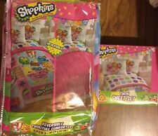 Shopkins 71 x 86 Reversable Comforter and 3 piece Sheet Set Twin Size