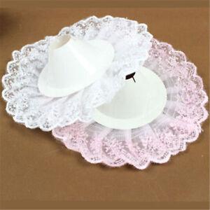 1pc Bridal Wedding Bouquet Floral Flower Handle Holder Lace Edge Collar Decor