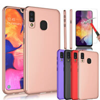 For Samsung Galaxy A20 Case 360 Shockproof Bumper Hybrid Cover + Tempered Glass