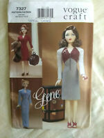 "Vogue Craft Doll Dress Pattern Gene 15.5"" Doll ""Day Night Circa 1945"" UNCUT"