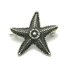 Sterling Silver Brooch Sea Star Genuine Solid Hallmarked 925 Handmade