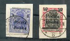 POLEN 1919 AUFDRUCKVERSCHIEBUNGEN(N7636