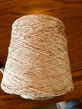 Chenille Yarn Cone Color: Dusty Rose - Excellent Condition