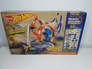 Hot Wheels Track Builder 45pc+ Rocket Edition Booster Power Kit