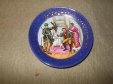 ANTIQUE HAND PAINTED DISH 4 1/2 INCH 1880S