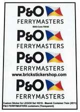 Precut Custom Stickers voor Lego Set 10219 - Maersk Train - P&O Ferrymasters Con
