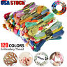 120 Lot Multi Colors Cross Stitch Floss Cotton Thread Embroidery Sewing Skeins