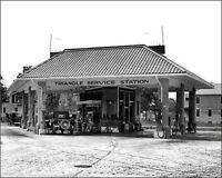 "#3 VINTAGE SHELL /""TCP/"" SHELLUBE SERVICE STATION PUMPS ISLAND 1950/'s 5x7   photo"