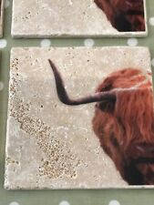 Highland Mucca POT STAND Sottopentola TILE CATAPECCHIE TRAVERTINO/MARMO/PIETRA NATURALE