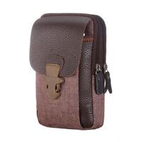 Men Waist pocket Outdoor Double Zipper Coin Purse Hiking Phone Card Holder Bag