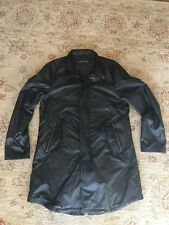 John Varvatos Collection modern parka leather collar jacket coat 50 mens NEW