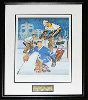 Legends of the Crease /1966 Hockey Lithograph Signed Bower Worsley Hall Cheevers