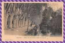 Tarjeta Postal - Brive - Plaza del 14 Julio - Camino del Canal