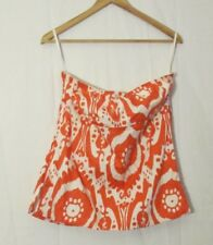 J. CREW Women's Cotton Orange Strapless Top Size 8