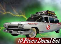 10 Piece GHOSTBUSTERS ECTO-1 Vehicle Decals Halloween Prop Vinyl Car Decal Set