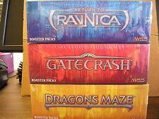 MAGIC RETURN to RAVNICA,GATECRASH & DRAGONS MAZE BOOSTER BOX LOT + Bonus