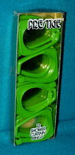 Vintage/New! Lime Green plastic Shower Curtain Rings @ 1960s/70s Mod Color hooks