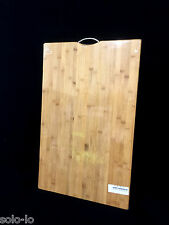 Extra LARGE Carbonised Kitchen Bamboo Cutting Chopping Board With Hook 50 x80 cm