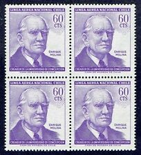 CHILE 1964 AIR MAIL STAMP # 674 MNH BLOCK OF FOUR UNIVERSITY EDUCATION