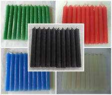 "WHOLESALE LOT 50 MINI 4"" CHIME SPELL CANDLES - BLACK WHITE RED BLUE GREEN"