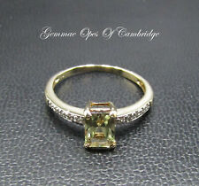 9ct Gold Citrine and Diamond Ring Size O 1/2 1.73g