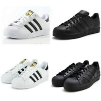 ADIDAS ORIGINALS SUPERSTAR FOUNDATION TRAINERS WHITE/ALL BLACK MENS SIZE 7 8 9