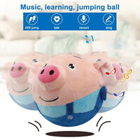 Electric Toy 120 Songs Recordable Cartoon Jumping Pig Cute Jump Toys Q7O0
