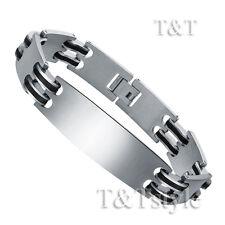 TT Stainless Steel Link ID Bracelet (BBR167)