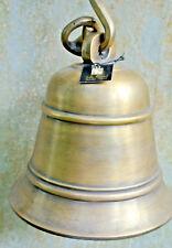 Nautical Door ship school Bell chain solid brass old style heavy hang 17cm B
