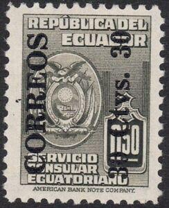 "1950 Ecuador SC# 544-Consular Service Stamps  Surcharged ""ORREOS"" in Black- M-H"